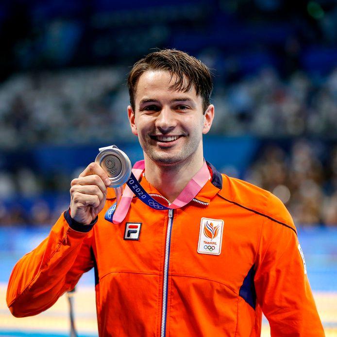 Zilver: Arno Kamminga (zwemmen, 100m schoolslag, mannen)