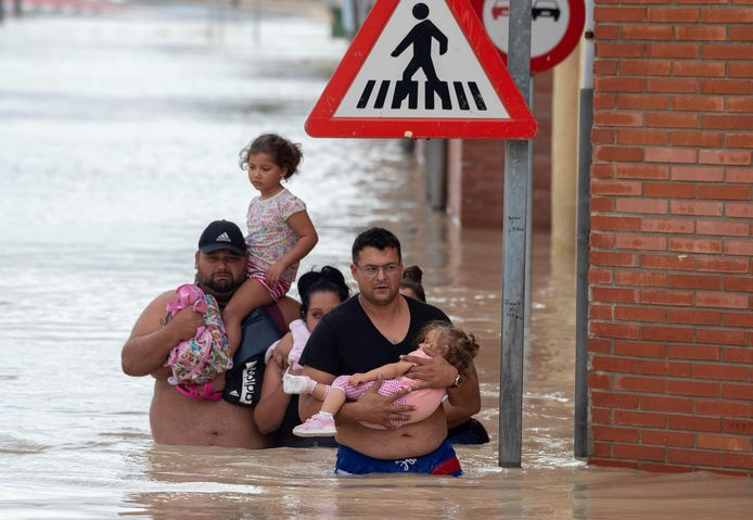 Overstromingen in Zuid-Spanje