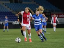 Verdedigingsfouten nekken PEC Zwolle Vrouwen in duel met Ajax