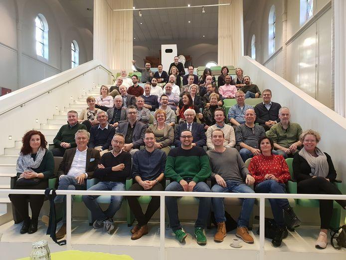 De gemeenteraad en het college van B en W van Eindhoven tijdens een recente heidag.