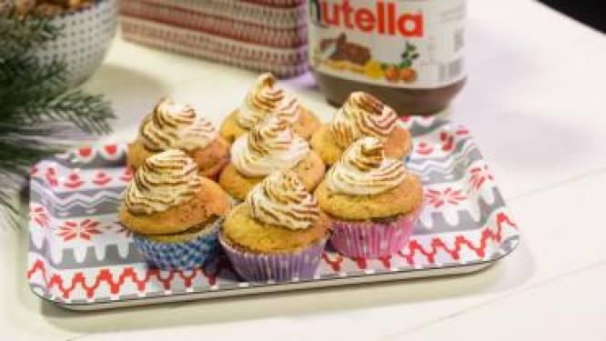 Bak de lekkerste nutella cupcakes met hazelnoot en meringue