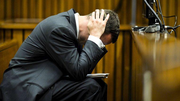 Oscar Pistorius in de rechtbank. Beeld getty