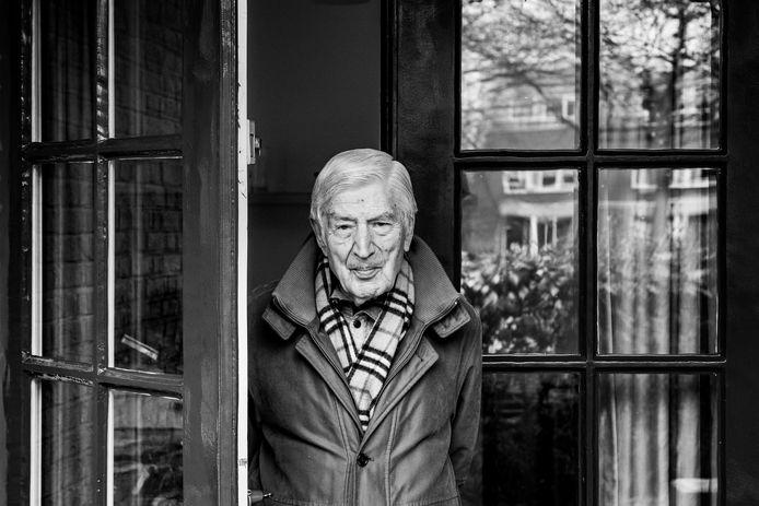 Dries van Agt in zijn huis in Nijmegen.