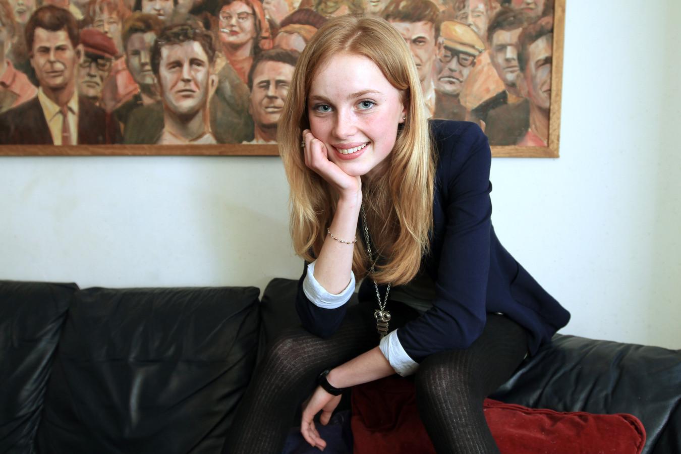 Rianne van Rompaey als 15-jarige in 2011.