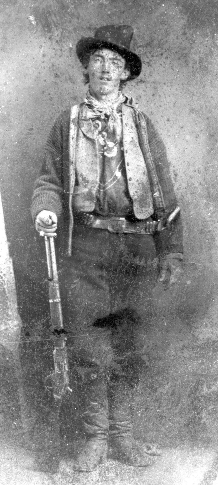 Dit portret van Billy the Kid werd in 2011 geveild voor meer dan twee miljoen dollar. Beeld AP