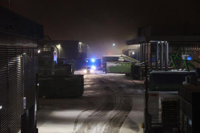 Brand bij sloop- en recyclingbedrijf Mirec in Eindhoven