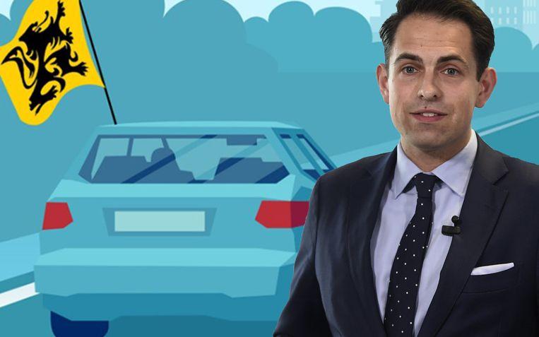 Voorzitter Tom Van Grieken roept op sociale media op om met vlaggen naar Brussel te rijden op 27 september.