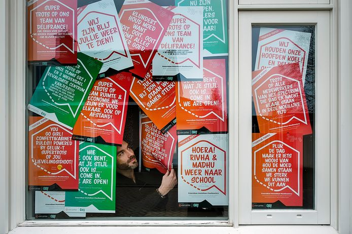 Michiel Moerland is eerder dit jaar gestart met het printen van positieve posters
