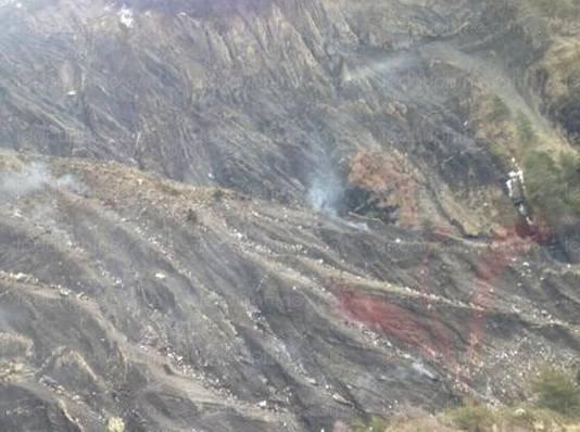 De eerste foto van de rampplek.