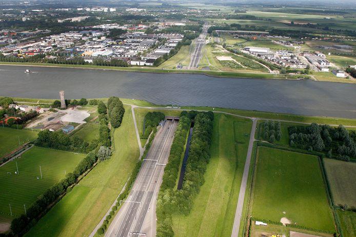 Kiltunnel luchtfoto