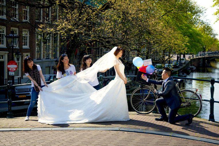 Trouwen in Amsterdam: da's een plaatje. Beeld Shutterstock