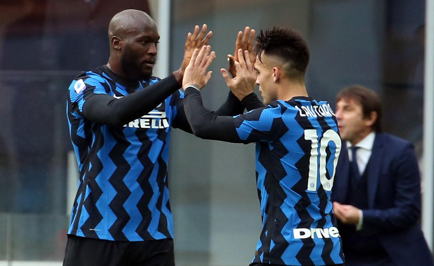 Het superkoppel 'LuLa', Romelu Lukaku en Lautaro Martinez, in de spits bij Inter.