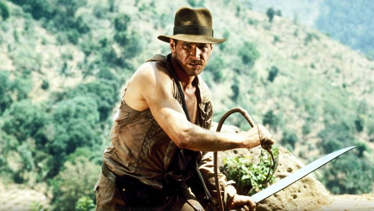 Harrison Ford als Indiana Jones in The Temple of Doom Beeld Paramount Pictures