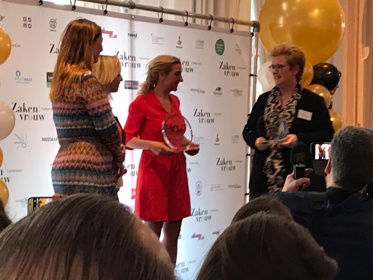 Clarissa Slingerland is in het Wereldmuseum uitgeroepen tot zakenvrouw van het jaar.