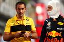 Cyril Abiteboul en Max Verstappen.
