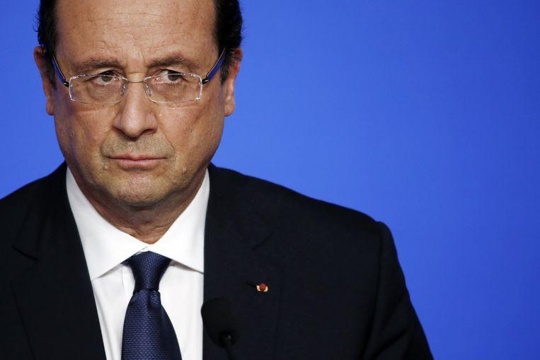 De Franse uittredende president François Hollande. Beeld AFP