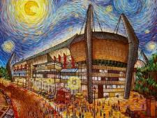 Kunstenares schildert het PSV stadion als Van Gogh