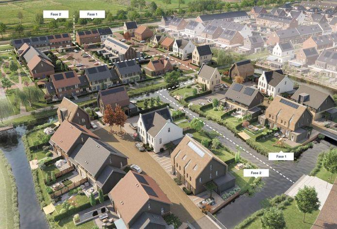 Zo komt de nieuwe wijk in Hardinxveld-Giessendam eruit te zien.