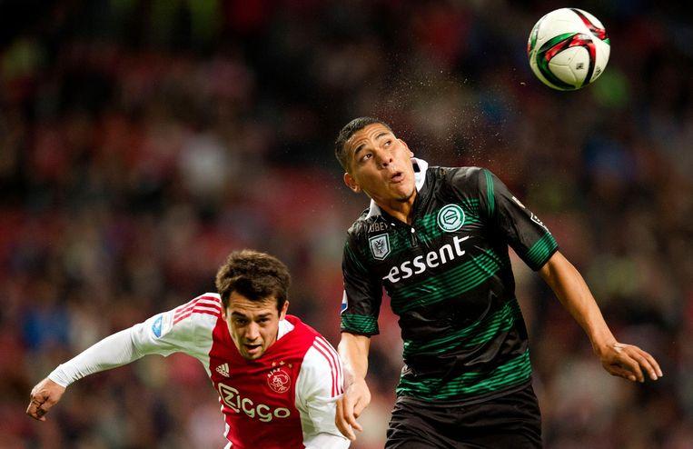 Maduro vorig seizoen namens FC Groningen in actie tegen Ajax Beeld anp