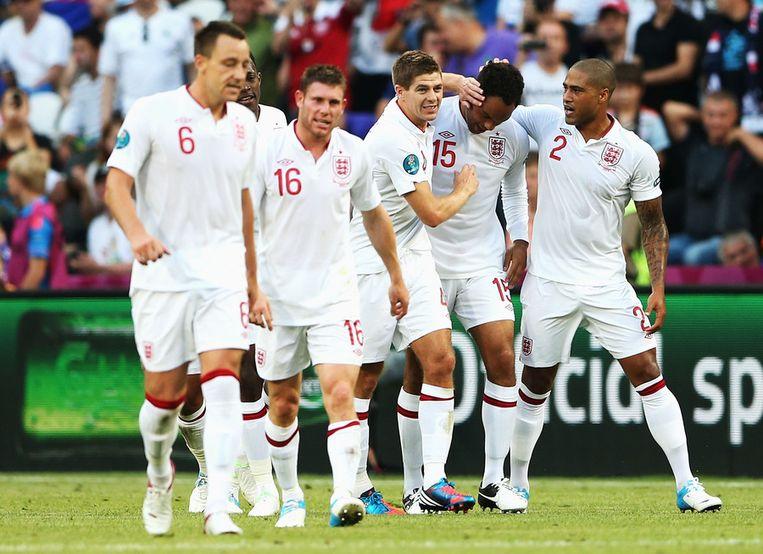 Engeland viert de 1-0. Beeld getty