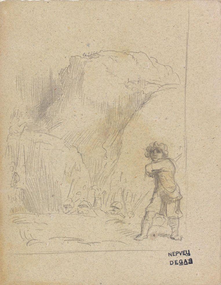 Studie naar Rembrandts David en Goliath (1859) van Edgar Degas Beeld René Gerritsen