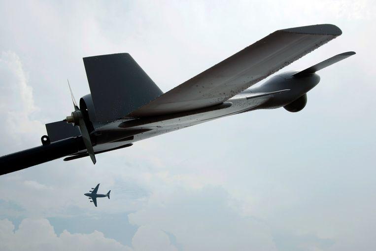 Een 'killer drone' tijdens een militaire oefening in Singapore. Beeld reuters