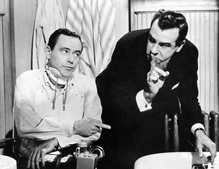 Jack Lemmon (links) en Walter Matthau in The Fortune Cookie. Beeld