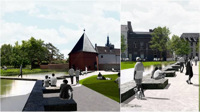 "Nieuwe 'Guldensporengracht' aan Onze-Lieve-Vrouwekerk wordt nóg groter: ""Drie keer meer water dan nu"""