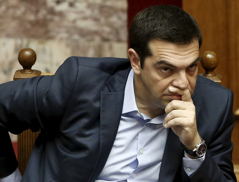 De Griekse premier Alexis Tsipras. Beeld reuters