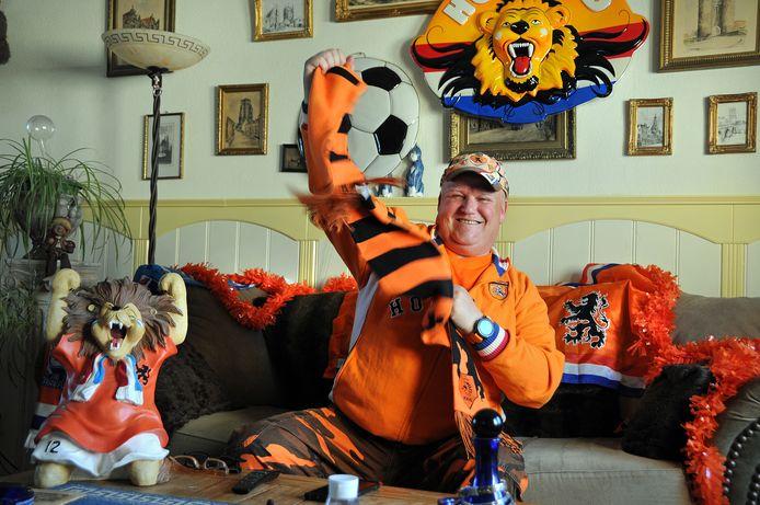 Richard Drubbel is Oranjefan en schittert binnenkort in een tv-commercial.
