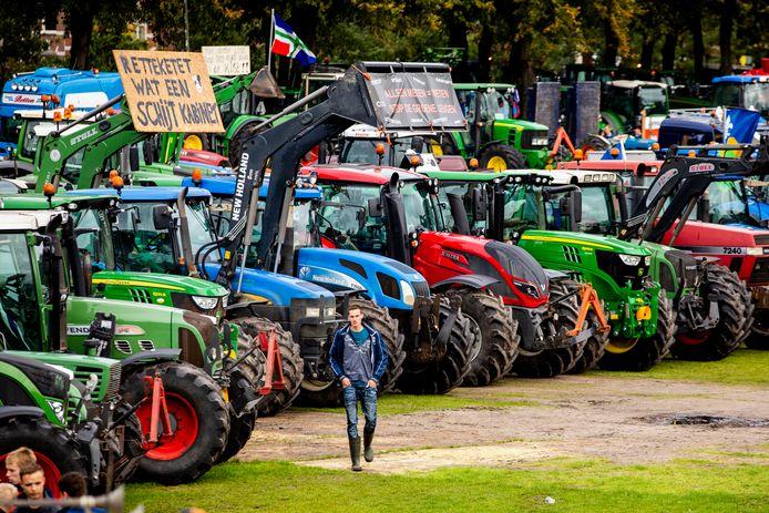 Boze boeren en bouwers protesteerden deze maand op het Malieveld in Den Haag