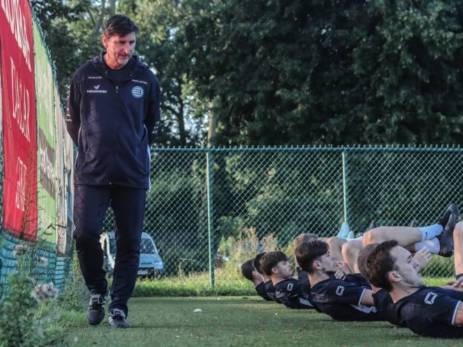 """REPORTAGE. Luc Nilis staat voor debuut als hoofdcoach bij SV Belisia: """"'Ik zal het even voordoen', zei Luc. En de bal vloog in de winkelhaak"""""""