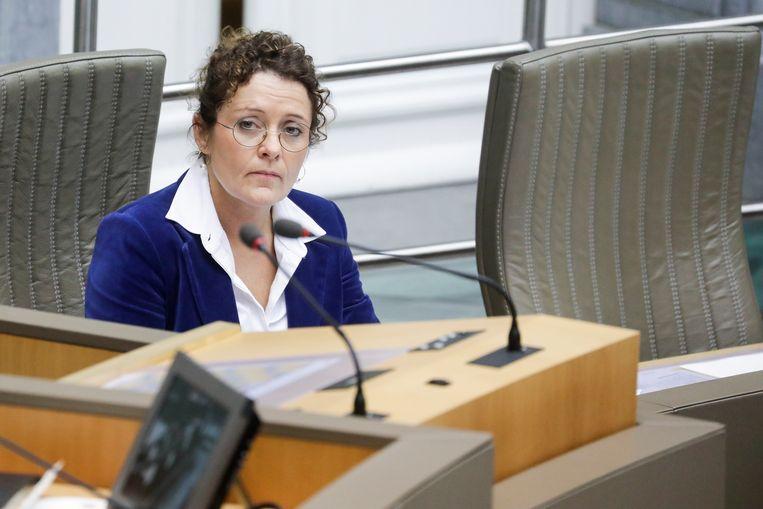 Vlaams minister van Mobiliteit Lydia Peeters. Beeld BELGA