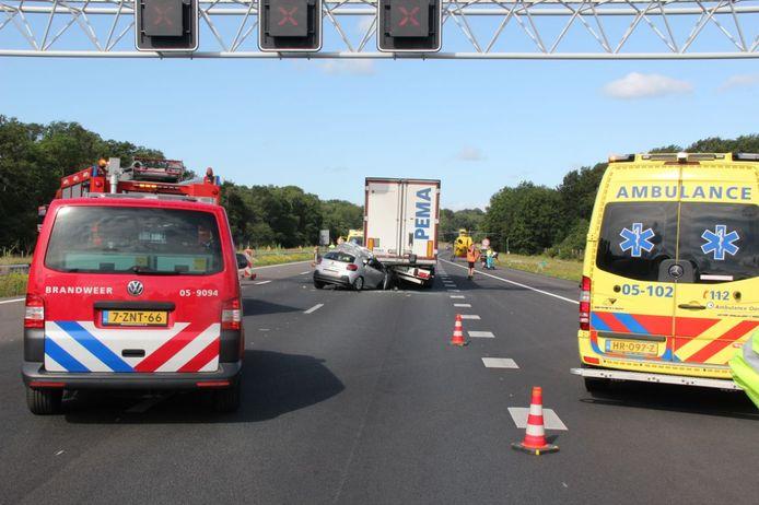 In Rijssen ging het ook mis tussen een auto en een vrachtwagen.