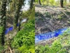 Inquiétude à Mons: un ruisseau devient bleu fluo