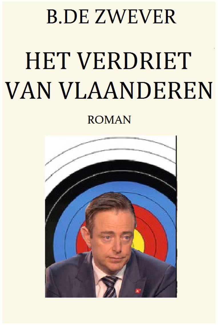 Op Sofie Van Himbeecks blog staat Bart De Wever voor een schietschijf afgebeeld. Beeld RV
