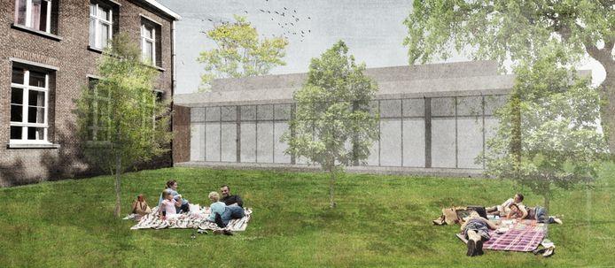 Een toekomstbeeld van de nieuwe dorpszaal.