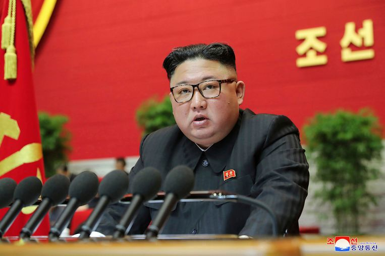 De leider van Noord-Korea, Kim Jong-un Beeld AP