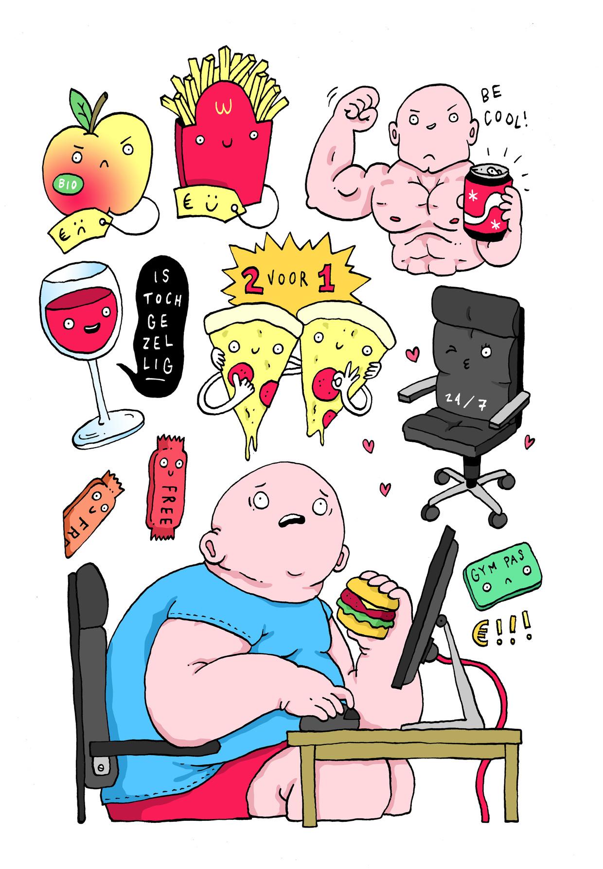 obesitas belgen Beeld sven franzen