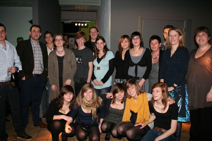 Het bestuur van het jeugdhuis 10 jaar geleden