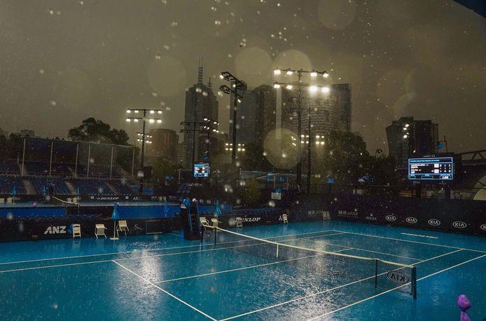 Hevige regenval vandaag in Melbourne.