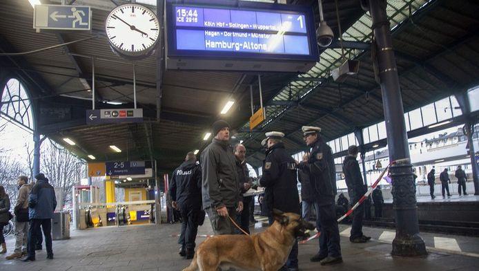 Politie op het station in Bonn