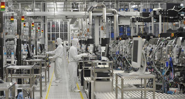 Een chipfabrikant in Japan. Archiefbeeld. Beeld AFP