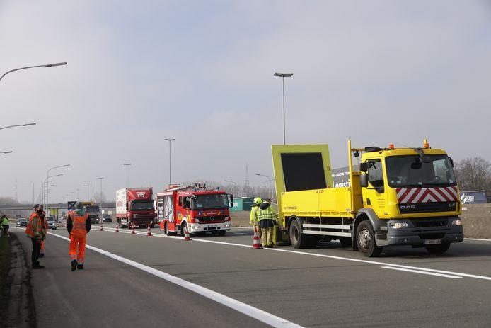 Het ongeval veroorzaakte verkeershinder.