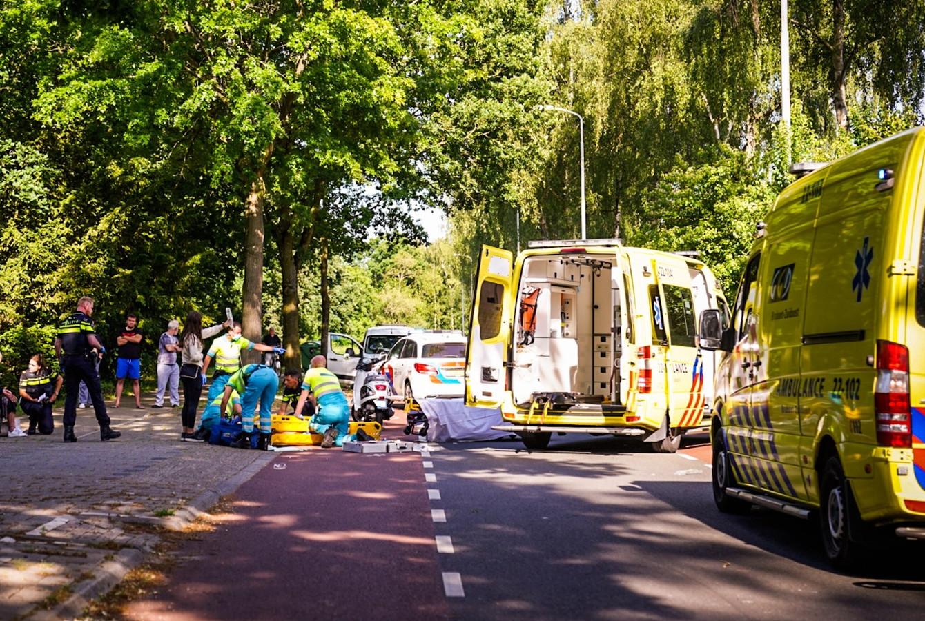 Ongeluk op Anconalaan in Eindhoven.
