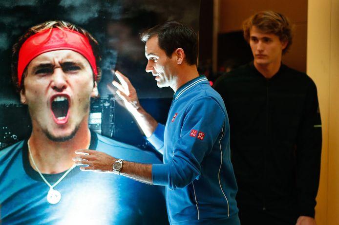 Roger Federer en Alexander Zverev.