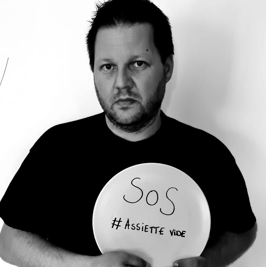 """En mai 2020, Pascal Palm, comme de nombreux restaurateurs, avait participé à la manifestation physique et virtuelle """"SOS #AssietteVide""""."""