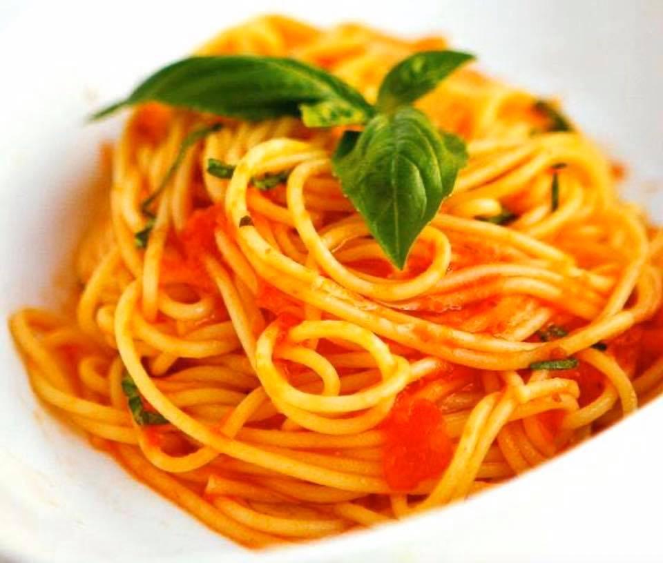 Wat dat je van een spaghetti van O' sole mio?