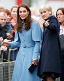 Kate Middleton en haar persoonlijke assistente Catherine Quinn.