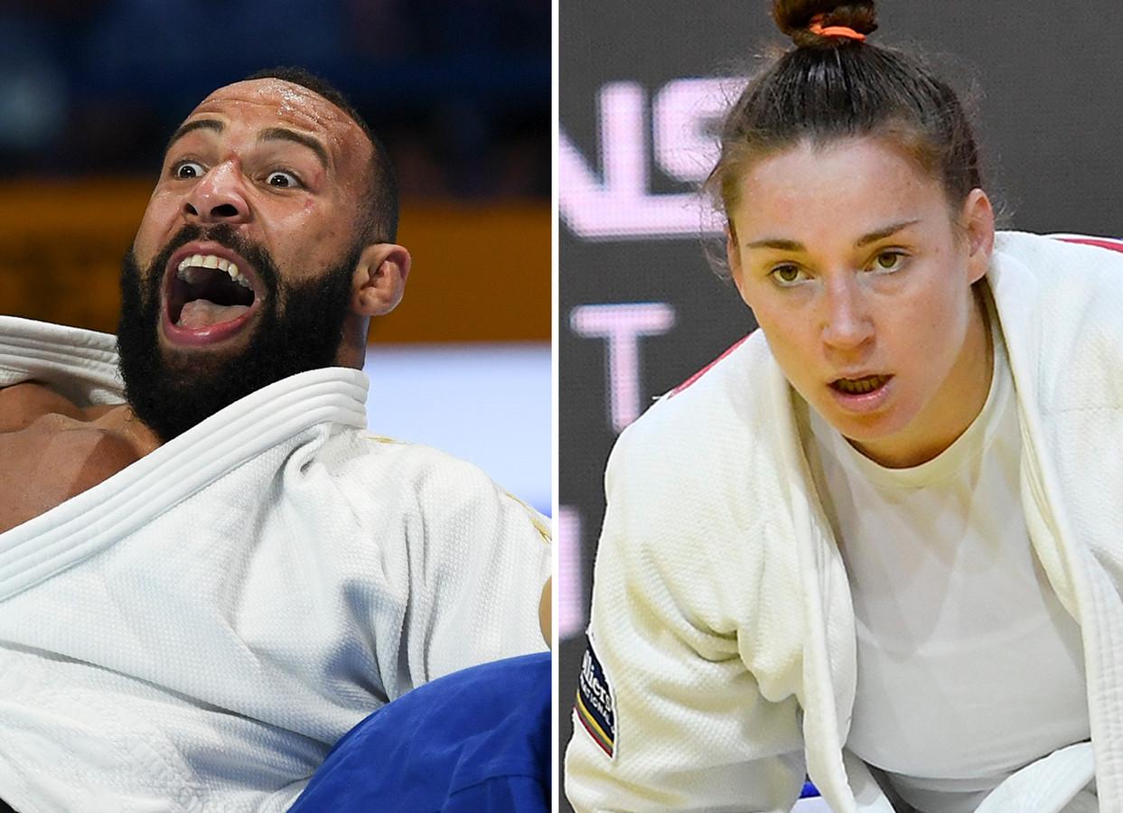 Roy Meyer (links) en Marhinde Verkerk zijn blij weer te kunnen judoën, maar veel is onzeker. 'Zijn je tegenstanders fit, ben je het zelf?'
